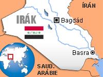 Mapa Irák