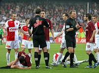 Pavel Horváth si vykoledoval červenou kartu