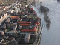 Protržená hráz v Ústí nad Labem - Střekově
