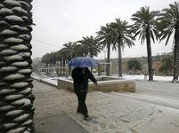 Izrael Jeruzalém sníh