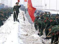 Čína počasí sníh armáda