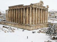 Libanon počasí sníh