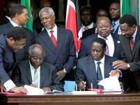 Podpis dohody v Keni