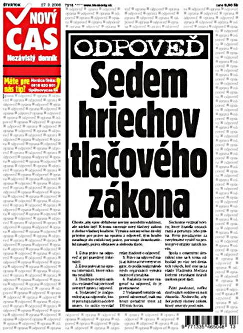 Protest slovenských deníků 4