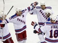 New Jersey - NY Rangers: Jágr, Dubinsky, Straka, Rozsíval, Staal