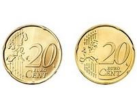 Euro: přední strana 20 centů