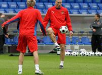 trénink fotbalistů v Basileji
