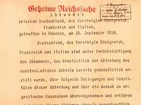 Mnichovská dohoda poprvé v Praze