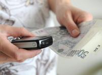 Peníze - telefonování