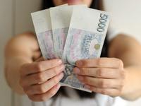 Peníze - vějíř