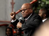 Jacob Zuma zdraví své příznivce