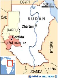 Mapa Súdán - Darfur