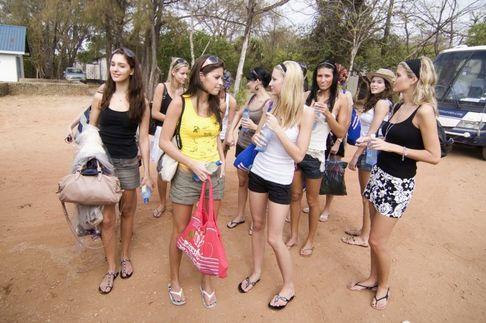 Finalistky České Miss 2009 v Keni