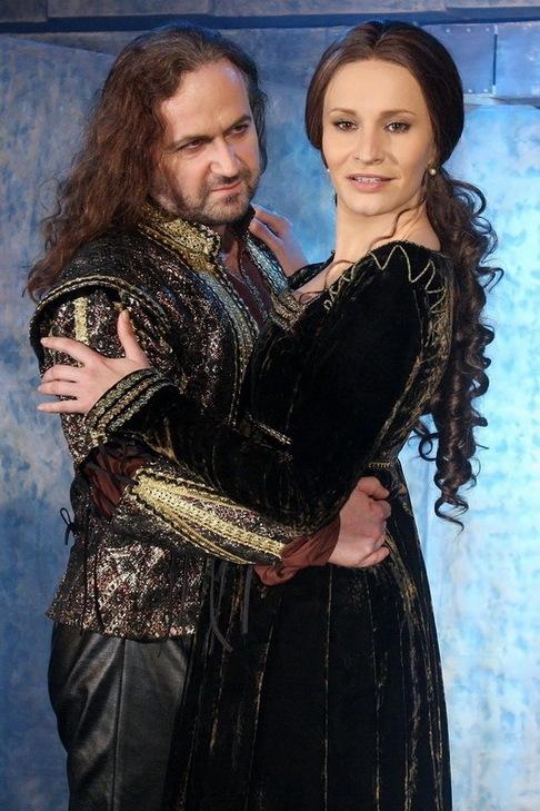 Focení kostýmů na muzikál Mona Lisa - Marian Vojtko, Monika Absolonová