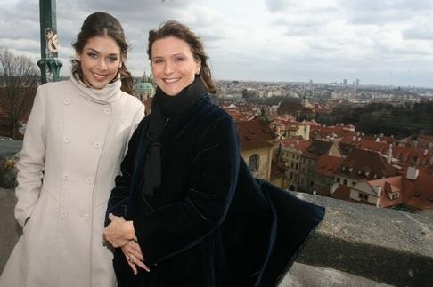 Miss Universe Dayana Mendozaová na návštěvě Prahy
