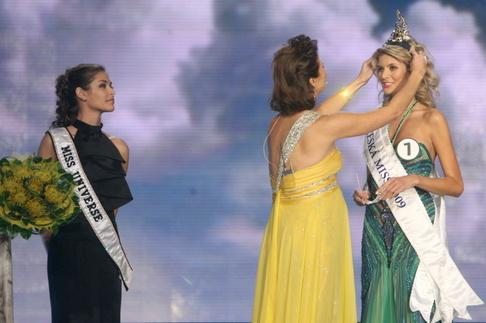 Finále České Miss 2009 - Dayana Mendozaová, Michaela Maláčová a Iveta Lutovská