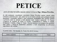 Petice z Litvínova