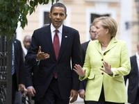 Obama a Merkelová