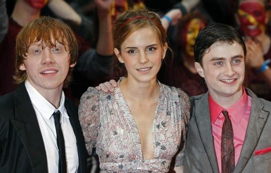 Premiéra filmu Harry Potter a Princ dvojí krve - Rupert Grint, Emma Watson a Daniel Radcliffe