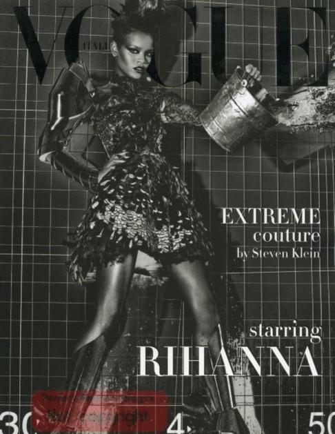 Rihanna se nafotila pro italské vydání časopisu Vogue