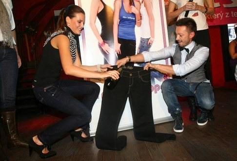 Kateřina Sokolová pořtila svou kolekci jeansu - Kateřina Sokolová a Dušan Chrástek