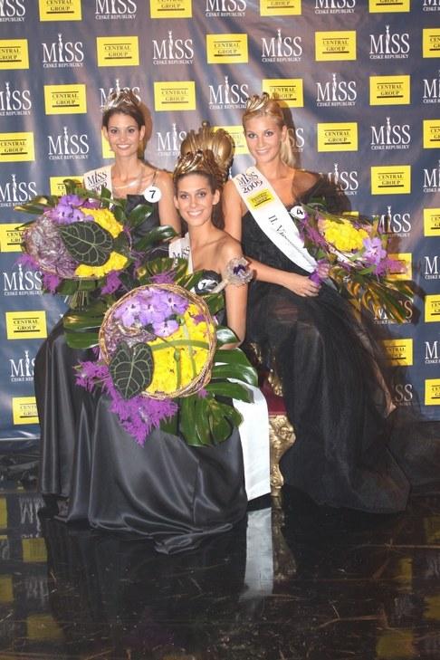 1.Vicemiss ČR Lucie Smatanová, Miss ČR 2009 Aneta Vignerová a 2.Vicemiss ČR Hana Věrná