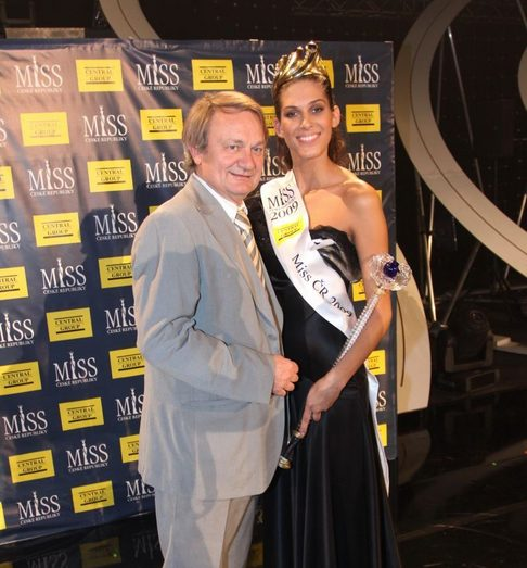 Jiří Adamec a Miss ČR 2009 Aneta Vignerová