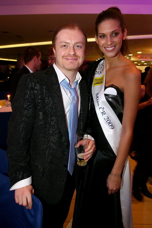 Večírek Miss ČR 2009 - Pavel Šporcl a Miss ČR Aneta Vignerová