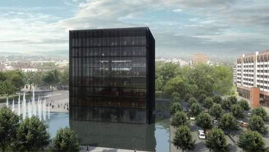 Ostravská veřejnost bojuje za stavbu vědecké knihovny zvané Černá kostka.
