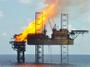 Hořící plošina v Timorském moři