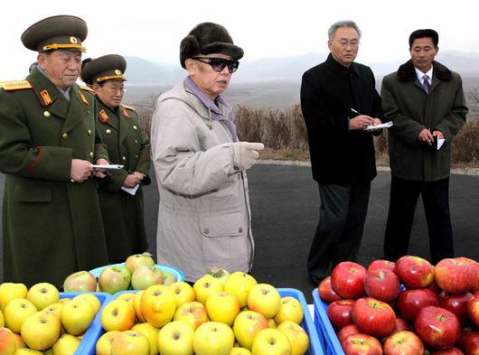 """<b>30. 11. - KLDR provedla tajnou měnovou reformu</b> - Severní Korea v noci na dnešek provedla tajnou a nečekanou měnovou reformu. Ve 3 hodiny ráno našeho času (11 hodin tamního času) na bankovkách škrtla dvě nuly. <br>100 wonů (asi 12 Kč) má tak nyní hodnotu pouze jednoho wonu. Severní Korea tak reaguje na vysokou inflaci, která zemi postihla.<br>Na snímku je vůdce KLDR Kim Čong-il na návštěvě centrální ovocné farmy Daedonggang. Snímek vydala oficiální agentura KCNA 30. listopadu 2009, ovšem bez poznámky, kdy byl pořízen.<br><b>Připomeňte si tuto událost <A href=""""http://aktualne.centrum.cz/zahranici/asie-a-pacifik/clanek.phtml?id=654526"""">ve článku zde</A></b>"""