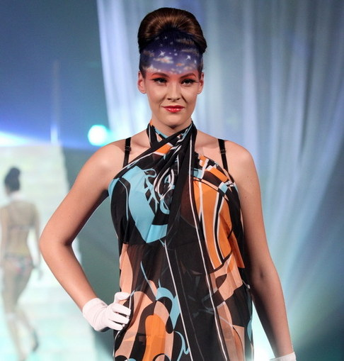 Módní přehlídka spodního prádla Triumph - Kateřina Sokolová