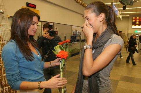 Aneta Vignerová přiletěla z Miss World - Lucie Smatanová