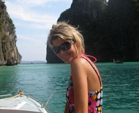 Iveta Lutovská na dovolené v Thajsku