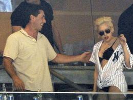 Lady GaGa na zápase Yankees