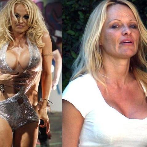 Pamela Anderson s make-upem a bez