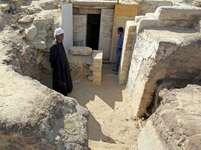 Vchod do nově objevené hrobky