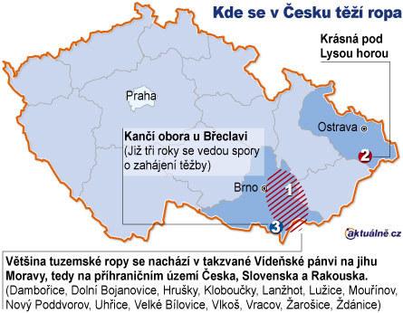 Těžba ropy v Česku