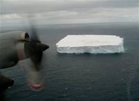 Ledovec u Nového Zélandu