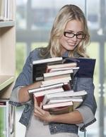 Studentka v knihovn�