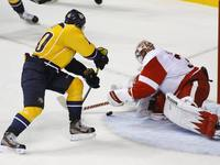Play off NHL: Nashville - Detroit (Erat, Howard)