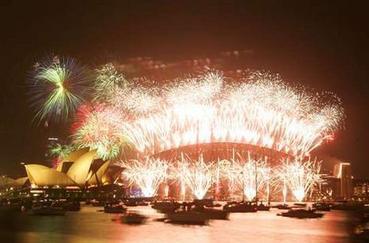 Novoroční ohňostroj v Sydney