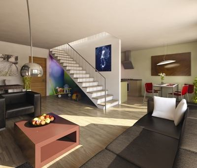 Schodiště dokáže interiér bytu ozvláštnit