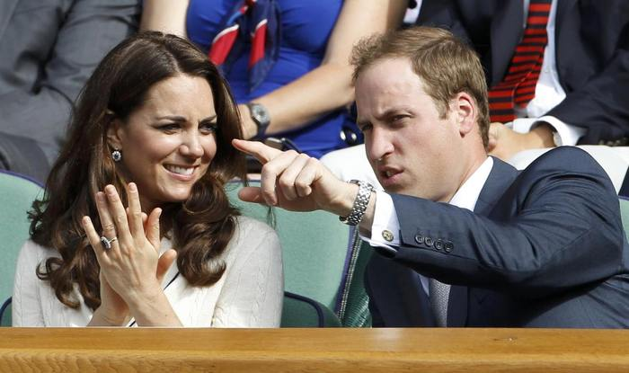 V�vodkyn� Catherine a princ William na Wimbledonu