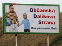 Plakát Dalíkova ODS s Topolánkem
