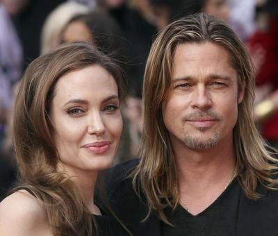 Angelina Jolie a Brad Pitt na premi��e filmu World War Z v Lond�n�